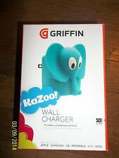Griffin KAZOO Wall Phone Charger BLUE ELEPHANT USB Universal Cell Apple Android
