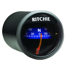 "Ritchie X-21BU Dash Mount Marine Boat Compass 2"" Dial 12v Lighted"