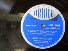 78rpm RUSS HAMILTON i don`t know why / my mothers eyes