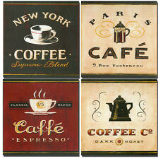 4 Tiles Art Mural Ceramic Backsplash Decor Coffee Tile #298