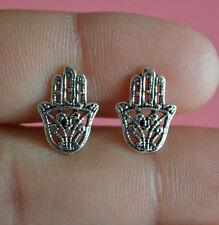 925 Sterling Silver Hamsa Hand Stud Earrings - Hand Of God Khamsa Hamsa Earrings