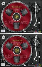 PAIR (2) Ltd.Ed Technics Japan Reel to Reel RS-1700 DJ Slipmats slipmat DEEP RED
