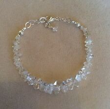 Herkimer diamond bracelet with large imperfect crystals, still beautiful