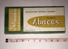 Vintage Hoover Plastic Abacus - Calculation Without Machine