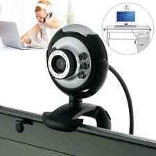 6 LED USB 2.0 Webcam HD Camera Web Cam with Mic for PC Laptop Computer Black DH