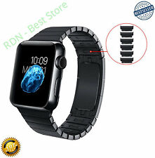 OULUOQI Link Bracelet for Apple Watch with Butterfly Closure 42mm Black