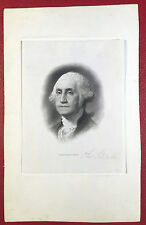 SIGNED by SCHLECHT • George Washington Steel Engraving Die Proof BR6664