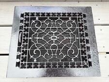 "VERY OLD VICTORIAN Cast Iron Floor Grille Heat Grate Register 14"" long x 12"" wid"