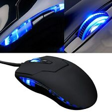 Wired USB 2400DPI Adjustable Gaming Game Optical Mouse Mice For Laptop PC Mac HP