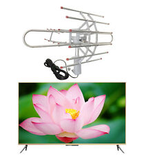 Outdoor Amplified Antenna Digital HD TV 180M 360 Rotor UHF/VHF/FM HDTV 1080P UST