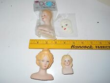 Lot of Doll making parts : Doll heads for crafts