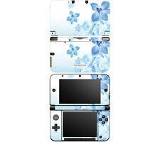Vinyl Skin Decal Cover for Nintendo 3DS XL LL - Blue Neon Flower