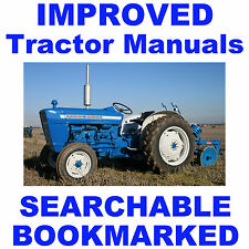 Ford 3000 Tractor SERVICE, OWNERS, PARTS -8- Manuals 1965-75 BEST SEARCHABLE CD