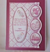"""Handmade""card~BEAUTIFUL 3D~BOY GIRL BABY CARD~By D~#B121"