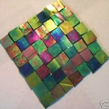 100 TROPICANA IRIDESCENT MOSAIC TILE STAINED GLASS TILE CRAFT SUPPLIES MADE USA