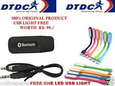 Led Light+ USB Bluetooth Stereo Music Receiver 3.5mm Adapter Dongle Speakers Car