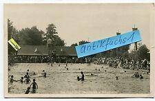 Postkarte um 1942 : Bad Oppelsdorf / Opolno Zdrój , Badeanstalt und Schwimmbad