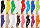 Womens Full Length Thick Cotton Leggings Pants Size S - 4XL