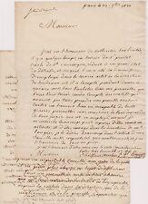 2 lettres en faveur du Sr Prestet Créole de SAINT DOMINGUE. Bordeaux 1821.