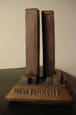 "5 1/2"" VINTAGE WORLD TRADE CENTER CAST METAL STATUE 1st"