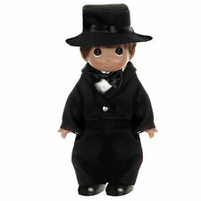 "Precious Moments 9"" Wedding Bells Groom Brunette Doll NEW 3477"