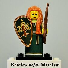 New Genuine LEGO Forest Maiden Minifig with Shield, Bow and Arrow Series 9 71000