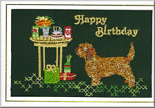 Basset Fauve De Bretagne  Birthday Card  by Dogmania  - FREE PERSONALISATION