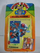 1986 Barbie Doll Disney Mickey and Pals Fashion Funwear Beach towel Suit Clothes