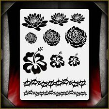 """Flowers & Thorns"" Airbrush Stencil Template Airsick"