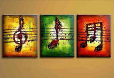 HOT SALE (NO Frame) Hand painted Oil Painting On Canvas Set(3PCS) Music