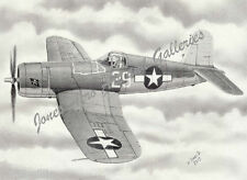 "Lt Ira Kepford's VF-17 Corsair ""Whistling Death"" Giclee print by Willie Jones Jr"