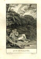 "Antique French Engraving, ""Acis et Galatée"" (Acis and Galatea), Renouard, 1809"