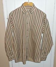 VTG BURBERRYS BURBERRY LONDON STRIPED SHIRT SIZE L LARGE MADE IN USA