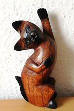 Katze  Holz Tiere  Albesia-Holz  18 x 8 x 5 cm