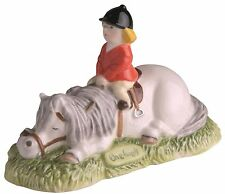 Thelwell John Beswick Don't Tire Your Pony Grey Ceramic Horse Figure 8cm JBT6GR