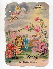 Chromo POULAIN  -  LA CHATTE BLANCHE - N°10 histoire Conte Enfant Fée Pays Magie