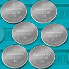 6 NEW PANASONIC CR2016 ECR 2016 Batteries 3V Exp.2025