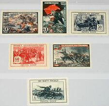 RUSSIA SOWJETUNION 1945 953-58 974-79 Red Army success in WWII Scenes Krieg MNH