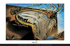 Clock Explosion Poster Salvador Dali Time Surrealism iconic Beauty Focal piece
