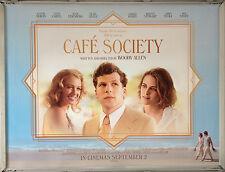 Cinema Poster: CAFE SOCIETY 2016 (Quad) Woody Allen Jesse Eisenberg