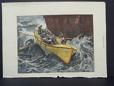 The Graphic #026/ A Man Overboard-Lowering the Ship's Lifeboat/Dec, 1872