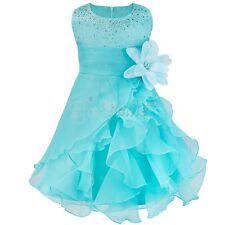 Flower Girl Princess Petal Dress Toddler Baby Wedding Party Pageant Tutu Dresses