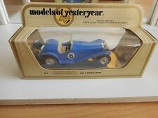 Matchbox Models of yesteryear 1934 Riley MPH in Blue on 1:43 in Box