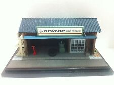 NEW DUNLOP TIRE SHOP DIORAMA DISPLAY CITY SCENE 1:64 FOR CHORO Q  OR TOMICA CAR