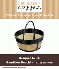 Hamilton Beach 80675 Washable Reusable Coffee Filter Fits 8-12 Cup Coffee Makers