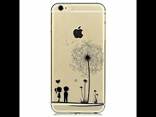 iPhone 6 6s Mobile Phone Soft Clear Silicon Case Girl Boy Love Flower Xmas