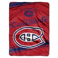 Montreal Canadiens 60x80 Plush Raschel Throw Blanket - Stamp Design [NEW] NHL