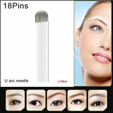 U shape needle blade permanent makeup needles for manual pen 18pins microblading
