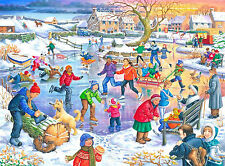 The House Of Puzzles - 500 BIG PIECE JIGSAW PUZZLE - Ice Skating Big Pieces