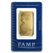 1 oz Pamp Suisse Gold Bar - Lady Fortuna - In Assay Card - SKU #11951